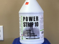 Power strip 10 easily cuts through multi-layers of burnished floor finish. This true no rinse stripper is the fastest working liquefier on the market. Low foaming, no scrub and no rinse features make this product a must for all professional floor care systems. For the rapid removal of all floor finish and waxes from resilient flooring including: vinyl, vinyl asbestos, vinyl composition, asphalt, linoleum, and rubber tiles. Also ideal for finished non-resilients such as: terrazzo, marble, ceramic, quarry tie, concrete, and poured epoxy flooring. Although excellent for any type of equipment, greatest savings are realized when using automatic scrubbing equipment