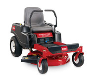 "Disclaimer	*See retailer for warranty details. Engine	452cc Toro Engine Fuel Capacity	3 gal / 11.4 L Ground Speed	Mow(F/R) 7 mph/3 mph, Tow(F/R) 5.5 mph/2.4 mph, Trim (F/R) 4 mph/1.7 mph Height	40.7"" / 103 cm Length	71.8"" / 182 cm Warranty	3-Year Unlimited Hours* Width	35.3"" / 90 cm - Storage Dimensions (W x L x H) 35.3"" x 71.8"" x 40.7"" (90 cm x 182 cm x 103 cm) Hour Meter	Standard Steering Controls	Dual Wrap Around Levers Tank Capacity	3 Gallons / 11.3 liters Cutting Width	32"" / 81 cm – 13 ga. 1 blade Tires	11"" x 4"" (27.9 cm x 10.2 cm) Front, 18"" x 6"" (45.7 cm x 15.2 cm) Rear Engine Displacement	452cc Transmission	Dual Hydrostatic Blade Tip Speed	18,959 ft/min Cup Holder	Standard Height of Cut	1.5"" / 3.8 cm - 4.5"" / 11.4 cm Seat	18"" / 45.7 cm Extra-Tall Tool Box	Standard Washout Port	Standard"