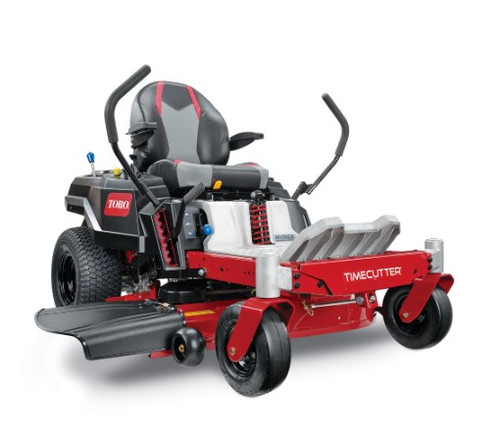 """Disclaimer*Time savings based on survey of consumers who purchased TimeCutters from 1/1/18-9/30/19. Time savings will vary. **24.5 HP at 3,600 RPM SAE J1940 and SAE J2723, as rated by Toro® as configured to meet safety, emission and operating requirements, the actual engine horsepower on this mower may be significantly different. ***See retailer for warranty details. Engine24.5 hp** Toro Commercial V-Twin 708cc w/Self-Cleaning Air Filter Housing Fuel Capacity3 gallons /11.4 L Ground SpeedMOW: 7 mph/3 mph (11.3 km/h / 4.8 km/h) TRIM: 5.5 mph/2.4 mph (8.8 km/h / 3.8 km/h) TOW: 4 mph/1.7 mph (6.4 km/h / 2.7 km/h) Warranty3-year / unlimited hour residential warranty 3-year / 300-hour commercial engine warranty*** Hour MeterOptional Steering ControlsDual Wrap Around Levers Cutting Width42"""" / 107 cm Tires11"""" x 4"""" (27.9 cm x 10.2 cm) Front, 18"""" x 7.5"""" (45.7 cm x 19 cm) Rear Engine Displacement708cc TransmissionDual Hydrostatic HG-ZT2100 Deck Design42"""" IronForged™ Fabricated Deck Foot Operated <br>Height of CutOptional Height of Cut1.5"""" / 3.8 cm - 4.5"""" / 11.4 cm Seat18"""" (45.7 cm) Handcrafted High Back with Arm Rests - Lever Slide"""