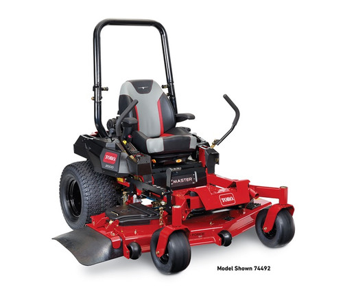 "Engine 24.5 hp Toro V-Twin 708cc with Heavy Duty Air CleanerFuel Capacity 7 Gallon (26.5 liters)Cutting Width 60"" (152 cm)Deck Design 5"" (12.7 cm) deck depth, 7/10-gauge high-strength steel w/ bull-nose bumperDischarge Chute RubberDisplacement 708ccEngine Horsepower 24.5 hp*Engine Displacement 708ccFoot Operated Height of Cut StandardGround Speed Up to 10 mph (16 kph)Height of Cut 1.5"" – 5"" in 0.25"" increments 3.81 cm – 12.7 cm in 0.635 cm incrementsIgnition ElectricROPS No-tools FoldingSeat Deluxe Adjustable Suspension SeatSpindle Bearings 8"" (20.32 cm) Alum Sealed Ball Bearings, 1"" (2.54 cm) ShaftTires Front 13"" x 6.5"" - 6"" Cage Bearing / Rear 24"" x 12"" - 12"" diameter rim Front 33 cm x 16.51 cm - 15.24 cm Cage Bearing / Rear 60.96 cm x 30.48 cm - 30.48 cm diameter rimTool-mounting Capability Side Console ReadyTransmission ZT-3400Warranty 4yr/750 hr**Disclaimer Specifications subject to change without notice and without incurring obligation. Products depicted are for demonstration purposes only. Actual products offered for sale may vary in design, required attachments and safety features. *The gross horsepower of these engines was laboratory rated by the engine manufacturer in accordance with SAE J1940 or SAE J2723. As configured to meet safety, emission and operating requirements, the actual engine horsepower on these mowers will be significantly lower. **See retailer for warranty details."