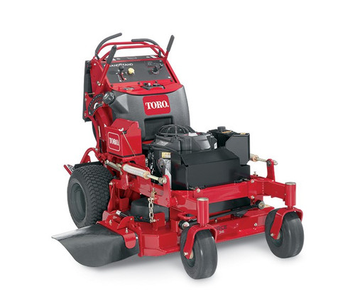 """Engine 15 HP* (11 kw) Kawasaki® FS541Fuel Capacity Gasoline - 7.8 gallons (29.5 L)Cutting Width 36"""" (91.4 cm)Blade Tip Speed 18,500+ ft/min (5,640 m/min)Blade Type .25"""" (.6 cm) heat-treated steelCarrier Frame 3"""" x 1.5"""" x 12 gauge (7.6 cm x 3.8 cm x 12 gauge)Caster Tires 11"""" x 4"""" - 5"""" (28 cm x 10.2 cm - 12.7 cm) flat-free semi-pneumaticClutch ElectromagneticControls Twin leverDeck Design 7-gauge 36"""" (91 cm) TURBO FORCE® with bull-nose bumperDischarge Chute RubberDrive System Pumps (10cc/rev) & Wheel Motors (10 cir)Drive Tires 18"""" x 8.5"""" - 8"""" (46 cm x 22 cm - 20 cm)Engine Displacement 541ccGround Speed 8.0 mph forward (12.9 km/h)Height of Cut 1"""" - 5"""" in 1/4"""" (2.5 cm - 12.7 cm in 6 mm) incrementsHour Meter StandardHydraulic Fluid Premium syntheticComfort Platform Foldable Operator Platform with SuspensionSpindle Bearings Maintenance-freeSpindle Housing 9 3/8"""" (23.8 cm) diameter cast ironWeight 833 lbs. (377.8 kg)Disclaimer * The gross horsepower of these engines was laboratory rated at 3600 rpm by the engine manufacturer in accordance with SAE J1940 or SAEJ2723. As configured to meet safety, emission and operating requirements, the actual engine horsepower on these mowers will be significantly lower."""