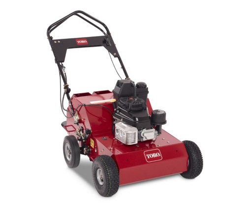 """Aerating Depth Up to 3""""Aerating Width 21""""Engine Kawasaki FJ180VFuel Capacity 1 gallonGround Speed 4 mph (forward)/2.2 mph (reverse)Height 38"""" (handle folded) 46"""" (handle up)Length 48"""" (handle folded) 50"""" (handle up)Weight 320 lbs. (with 1-27 lb. weight) 285 lbs. (w/out weights)Width 31.5""""Disclaimer All walk-behind machines comply with ANSI safety standards: B71.4 for commercial turf care equipment or B71.8 for OPE walk-behind ground-engaging equipment."""