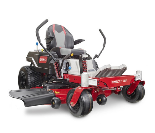 """Engine 24.5 hp** Toro Commercial V-Twin 708ccFuel Capacity 3 gallons /11.4 LCutting Width 50"""" / 127 cmDeck Design 50"""" IronForged™ Fabricated DeckEngine Displacement 708ccFoot Operated Height of Cut StandardGround Speed MOW: 7 mph/3 mph (11.3 km/h / 4.8 km/h) TRIM: 5.5 mph/2.4 mph (8.8 km/h / 3.8 km/h) TOW: 4 mph/1.7 mph (6.4 km/h / 2.7 km/h)Height of Cut 1.5"""" / 3.8 cm - 4.5"""" / 11.4 cmHour Meter OptionalSeat 18"""" (45.7 cm) Handcrafted High Back with Arm Rests - Lever SlideSteering Controls Dual Wrap Around LeversTires 11"""" x 5.5"""" (27.9 cm x 14 cm) Front, 18"""" x 9.5"""" (45.7 cm x 24.1 cm) RearTransmission Dual Hydrostatic HG-ZT2200Warranty 3-year / unlimited hour residential warranty 3-year / 300-hour commercial engine warranty***Disclaimer *Time savings based on survey of consumers who purchased TimeCutters from 1/1/18-9/30/19. Time savings will vary. **24.5 HP at 3,600 RPM SAE J1940 and SAE J2723, as rated by Toro® as configured to meet safety, emission and operating requirements, the actual engine horsepower on this mower may be significantly different. ***See retailer for warranty details."""