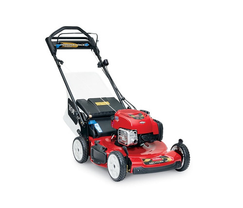 """Engine 7.25 ft-lb Gross Torque Briggs & Stratton® Mow N' Stow® EXi 163cc w/ReadyStart® and Just Check & Add™ - no need to prime or choke and no oil changes for the life of the engine.Cutting Width 22"""" / 56 cmHeight of Cut 1.0"""" - 4.0"""" / 2.5 - 10 cmGuaranteed-to-Start Promise 3-Year GTS Full**Starter RecoilDrive System Personal Pace Rear-Wheel DriveDeck Material SteelMulch, Bag, Side Discharge StandardWashout Port StandardWarranty 2-Year Full**Blade Override System (BOS) StandardEngine Displacement 163ccHandle Type 1 Piece, Adjustable HeightWheel Height 8"""" / 20.3 cmWeight 89 lbs. / 40.4 kgDisclaimer *The gross torque of this engine was laboratory rated at 2600 rpm per SAE J1940 by the engine manufacturer. As configured to meet safety, emission and operating requirements, the actual engine torque on this class of mower will be significantly lower. **See dealer for warranty details."""