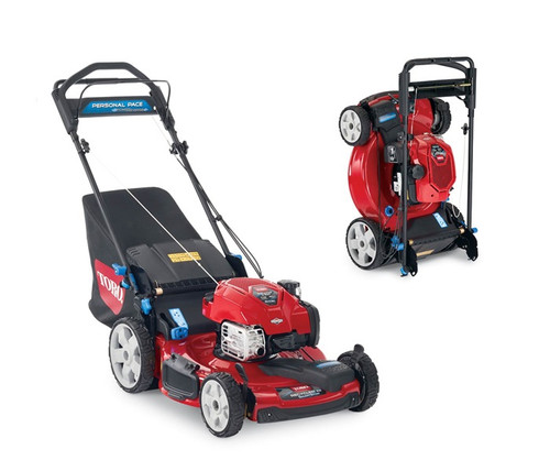"Engine 7.25 ft-lb Gross Torque* Briggs & Stratton® Mow N' Stow EXi 163cc w/Just Check & AddCutting Width 22"" / 56 cmHeight of Cut 1.0"" - 4.0"" / 2.5 - 10 cmGuaranteed-to-Start Promise 3-Year GTS Full**Starter RecoilDrive System PoweReverse™ Personal Pace®Deck Material SteelMulch, Bag, Side Discharge StandardWashout Port StandardWarranty 2-Year FullEngine Displacement 163ccHandle Type Iso-Flex™ SmartStow, 1 Piece, Adjustable HeightWheel Height 8"" / 20.3 cm Front 11"" / 28 cm RearWeight 77 lbs. / 34.5 kgDisclaimer *The gross torque of this engine was laboratory rated at 2600 RPM per SAE J1940 by the engine manufacturer. As configured to meet safety, emission and operating requirements, the actual engine torque on these mowers may be significantly lower. Space savings are in relation to the space consumed by a Toro 22"" walk power mower. **See retailer for warranty details."