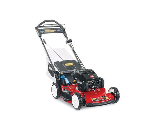 "Engine 7.25 ft-lb Gross Torque* Toro TXP 159cc OHV w/AutoChokeCutting Width 22"" / 56 cmHeight of Cut 1.0"" - 4.0"" / 2.5 - 10 cmPower Rating Model Year 2012 Model Year 2013Guaranteed-to-Start Promise 3-Year GTS Full**Starter RecoilDrive System Personal Pace Rear-Wheel DriveDeck Material SteelMulch, Bag, Side Discharge StandardWashout Port StandardWarranty 2-Year Full**Blade Override System (BOS) StandardGround Speed Up to 4.5 mph / 7.25 km/hHandle Type 1 Piece, Adjustable HeightWheel Height 8"" / 20.3 cmWeight 90 lbs. / 40.8 kgDisclaimer *The gross torque of this engine was laboratory rated at 2600 RPM per SAE J1940 by the engine manufacturer. As configured to meet safety, emission and operating requirements, the actual engine torque on these mowers will be significantly lower. **See dealer for warranty details."
