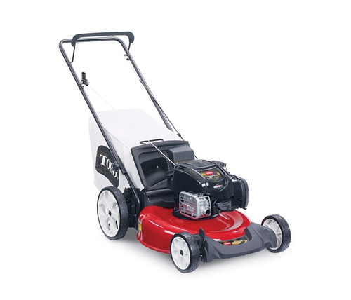 """Engine 6.75 ft-lb Gross Torque Briggs & Stratton® 163cc w/Just Check & Add™Cutting Width 21"""" / 53 cmHeight of Cut 1.25"""" - 3.75"""" / 3.2 - 9.5 cmGuaranteed-to-Start Promise 3-Year GTS Full**Starter RecoilDrive System PushDeck Material SteelMulch, Bag, Side Discharge Mulch, Rear Bag, Side discharge optionalWarranty 3-Year GTS, 2-Year Full**Engine Displacement 163ccHandle Type 1 Piece, Adjustable HeightWheel Height 7""""/17.8 cm Front, 11""""/28 cm RearWeight 59 lbs. / 26.8 kgDisclaimer Actual products offered for sale may vary in design, required attachments and safety features.  *The gross torque of this engine was laboratory rated at 2800 RPM per SAE J1940 by the engine manufacturer. As configured to meet safety, emission and operating requirements, the actual engine torque on these mowers may be significantly lower.  **See retailer for warranty details."""