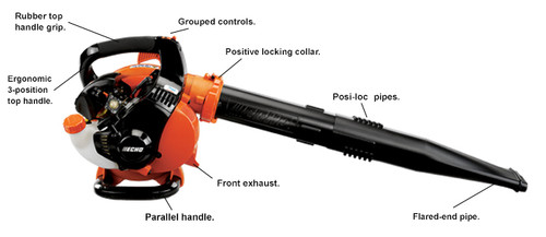 TypeHandheldAir Volume (cfm-pipe)354 Engine Displacement (cc)25.4Maximum Air Speed (mph)191 CarburetorDiaphragmdB(A)164 Starting SystemStandard Dry Weight (lbs)2  10.2 Fuel Capacity (fl. oz.)16.9Consumer Warranty5 years See-Through Fuel TankStandardCommercial Warranty2 years Helper HandleNot ApplicableNewtons (N)13 1 Per ANSI B175.2-2012 2 With standard pipes