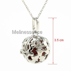 HEART BALL LOCKET AROMATHERAPY NECKLACE