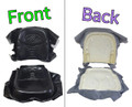SEAT CUSHION SET BACK & BOTTOM MOLDED FOAM WITH VINYL