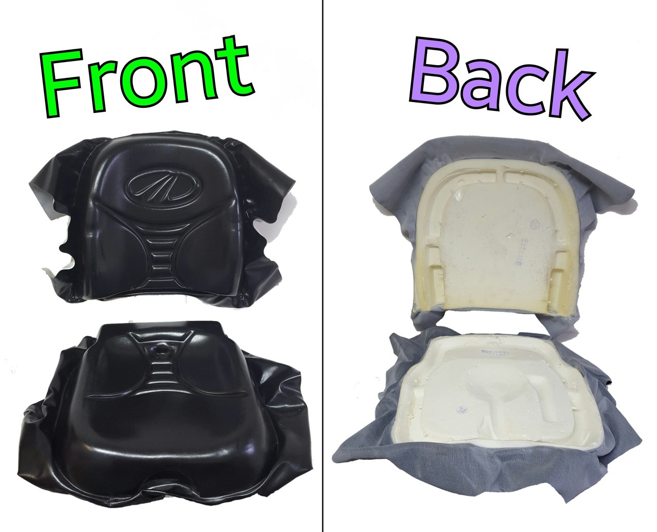 Seat Cushion Set Back Bottom Molded Foam With Vinyl A11701227l
