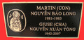 Double Nameplate