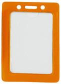 1820-3005 - Badge Holder Vertical Orange Frame 100 Per Pack
