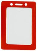 1820-3006 - Badge Holder Vertical Red Frame 100 Per Pack
