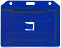 1840-3052 - Badge Holder Horizontal Royal Blue 100 Per Pack