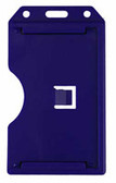 1840-3082 - Badge Holder Vertical Blue 100 Per Pack