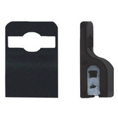 5710-3050 - BADGE CLIP GRIPPER 30 BLACK PLASTIC 100 PER PACK