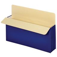 """Vertical File Pockets 3.5"""" - Legal Blue"""