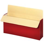 "Vertical File Pockets 3.5"" - Legal Red"