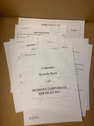Everything you need for your Minute Book, without the Book!..  Included is a Form-Fill Corporate Summary Sheet, By-Laws, Resolutions, Ledgers, Sharess and more!