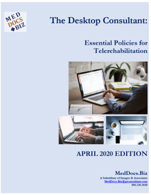 The Desktop Consultant:  Essential Policies for Telerehabilitation