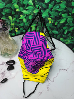 Violet Labyrinth Face Mask - Morocco - Outer Main View