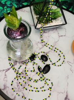 Ltd. Ed. Waist Beads - Jamaica Clear