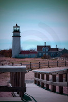 Highland Lighthouse, Truro Cape Cod. (View from original site of Lighthouse)
