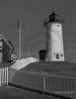 Nobska Light Woods Hole B/W