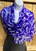 Silk Chiffon Hand Painted Scarf - Violet Dream