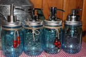 Mason Jar Soap Dispenser *Blue*
