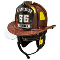 CAIRNS N6A HOUSTON LEATHER FIRE HELMET W/NFPA BOURKES