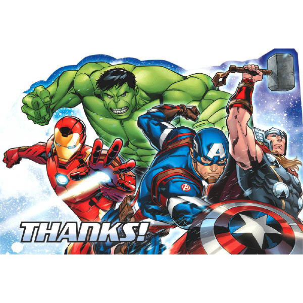 Marvel Epic Avengers Postcard Thank You Cards 8 Count Pack Nj