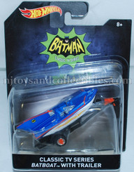 Hot Wheels Batman Premium Diecast Vehicles: Classic TV Batboat with Trailer