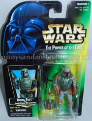 Star Wars POTF2 Green Card Boba Fett Action Figure