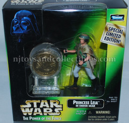 Star Wars POTF2 Millennium Princess Leia Endor with Coin