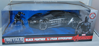 Metal Marvels: Black Panther Lykan 1:24 Scale Diecast Vehicle