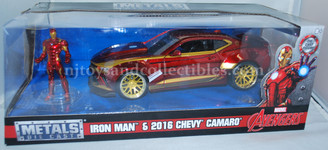Metal Marvels: Iron Man with 2016 Camaro 1:24 Scale Diecast Vehicle