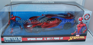 Metal Marvels: Spiderman with Ford GT 1:24 Scale Diecast Vehicle