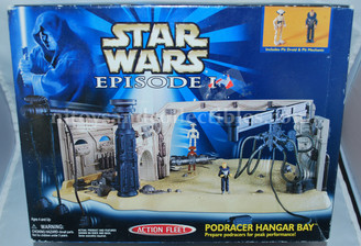 Star Wars Episode 1 Podracer Hangar Bay Playset