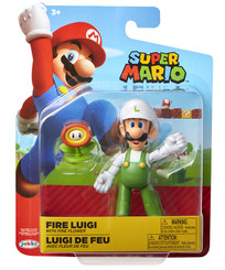 Nintendo World of Nintendo Fire Luigi 4-Inch Action Figure