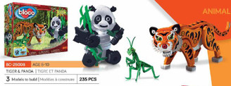 Bloco Foam Builders: Tiger & Panda Set