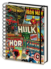Marvel Comic Book Collage Journal