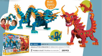 Bloco Foam Builders: Aqua & Pyro Dragons
