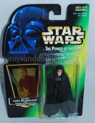 Star Wars POTF2 Green Card Luke Skywalker Jedi Knight Action Figure