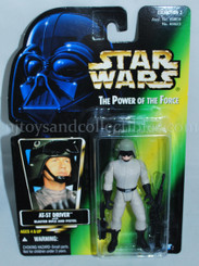 Star Wars POTF2 Green Card AT-ST Driver Action Figure