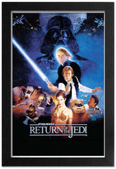 Star Wars Return of the Jedi Framed Wall Decor Poster
