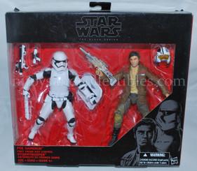 Star Wars Black Series 6-Inch Action Figure 2-Pack: Poe Dameron & Riot Control Stormtrooper