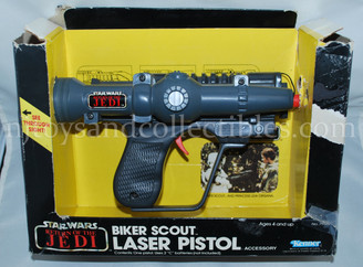 Star Wars Vintage ROTJ Biker Scout Laser Pistol with Box
