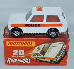 Matchbox #20 Rolamatics Police Patrol Range Rover Discast Vehicle